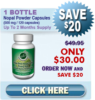 Existing Client Special - 1 Bottle Nopal (120 caps / 500 mg)