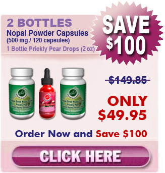 First Time Client Special 2 Bottles Nopal & 1 Bottle Prickly Pear Drops $49.95